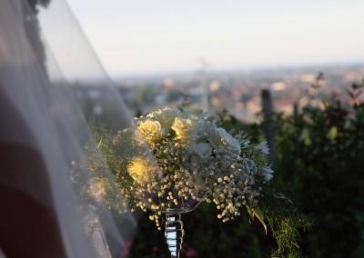 Ricevimento di matrimonio vista dai colli