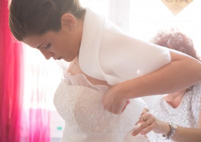Fotografo di Matrimonio preparativi sposa