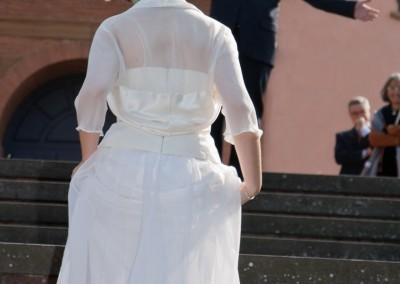 Fotografo di Matrimonio durante l'arrivo della sposa