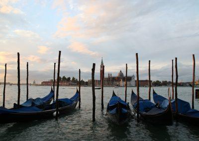 San Giorgio Maggiore gondole a Venezia