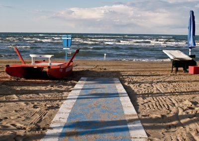 Spiaggia di Pesaro Mare Adriatico