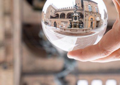 Bologna in una bolla - Fontana del Nettuno - Palazzo Re Enzo - Palazzo del Podesta