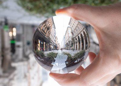 Bologna in una bolla Via Ugo Bassi le due Torri Via Rizzoli
